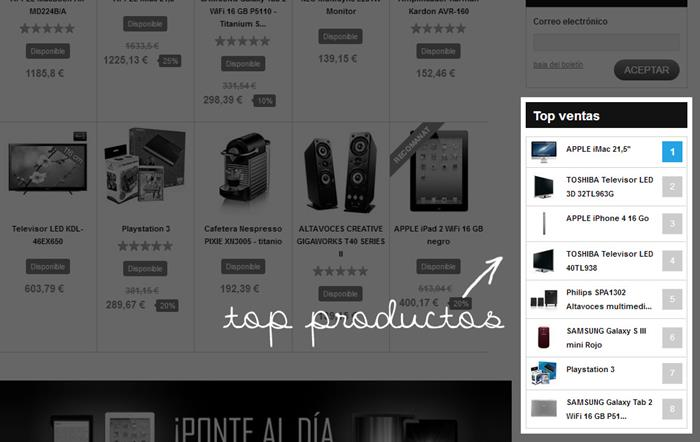 Top productos |